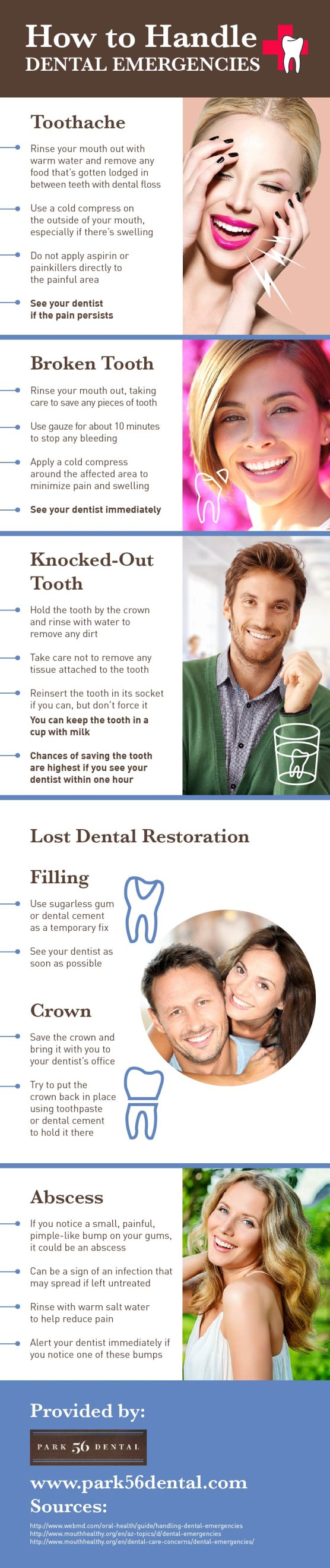 How to Handle Dental Emergencies infographic